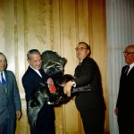 Presentation of the White House turkey for Thanksgiving 1961.  October 19, 1961.