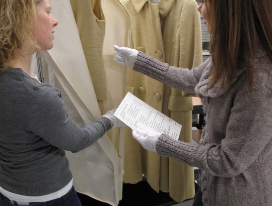 reviewing clothing