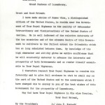 Letter condemning James Wine for joining Kennedy Campaign.