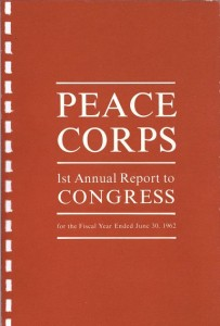Cover of Peace Corps First Annual Report to Congress, 1962
