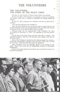 First Group of Peace Corps Volunteers, First Annual Report to Congress, 1962