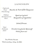 Menu for a luncheon for Prime Minister Gerhardsen of Norway and Mrs. Gerhardsen. [View entire folder here: http://www.jfklibrary.org/Asset-Viewer/Archives/JFKWHSFSLF-013-012.aspx]