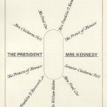 Seating plan for a luncheon at the White House for the Prince and Princess of Monaco on May 24, 1961. [View folder here: http://www.jfklibrary.org/Asset-Viewer/Archives/JFKWHSFSLF-029-021.aspx]
