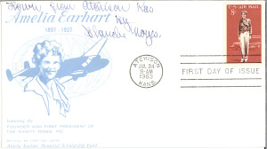 Postcard with commemorative Amelia Earhart stamp [View entire folder here: http://www.jfklibrary.org/Asset-Viewer/Archives/JFKPOF-104-002.aspx]