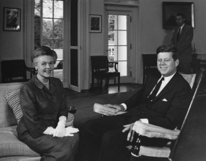 JFKWHP-AR7272-A. Eugenie M. Anderson with President John F. Kennedy, 28 May 1962 [View photograph record here: http://www.jfklibrary.org/Asset-Viewer/Archives/JFKWHP-AR7272-A.aspx]