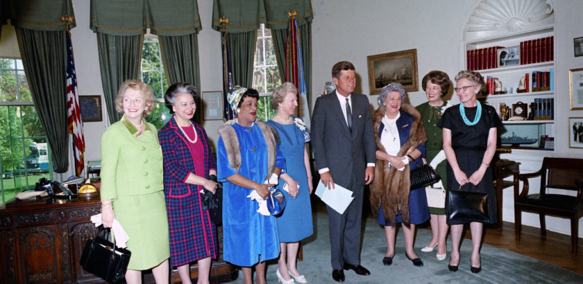 JFKWHP-ST-C139-1-63. Visit of recipients of 3rd annual Federal Woman's Awards, 2 May 1963 [View entire folder here: http://www.jfklibrary.org/Asset-Viewer/Archives/JFKWHP-1963-05-02-D.aspx]