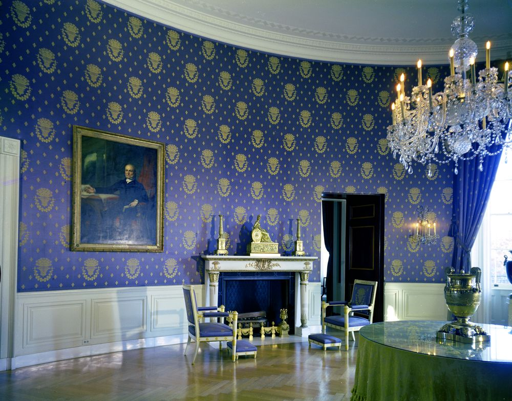 Restoring the past in the white house a look at the for The blue room