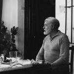 EH10478P, 1959: Ernest Hemingway dines at Valcargado, Antonio Ordonez' ranch near Cádiz, Spain. Copyright status: Unknown. Please credit, Ernest Hemingway Photo Collection. John F. Kennedy Presidential Library and Museum, Boston.
