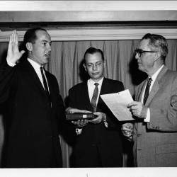 Swearing in of David S. Black as General Counsel of the Bureau of Public Roads. [DSBPP-PH-001]