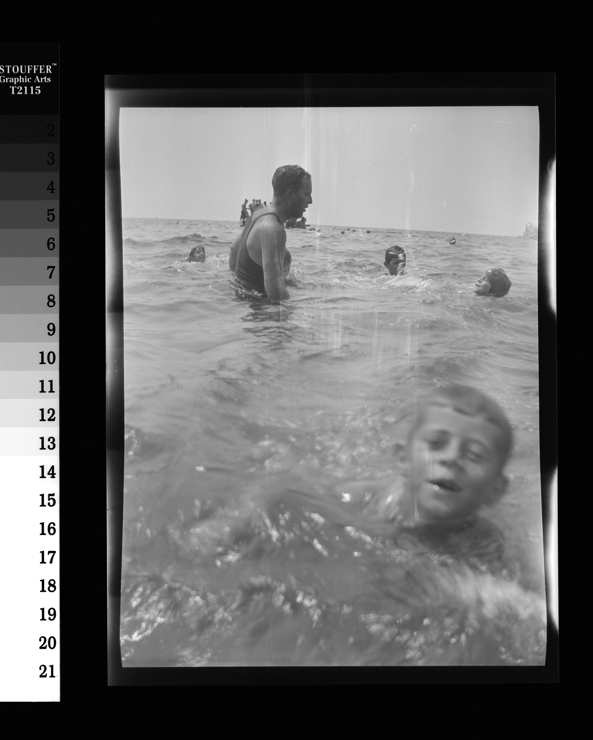 KFC621N. John F. Kennedy (foreground) and Joseph P. Kennedy, Sr. Hyannis Port, Massachusetts, ca. 1925-1927 1 negative (black-and-white; 3 1/4 x 4 1/4 inches; film/plastic: nitrate) © John F. Kennedy Library Foundation