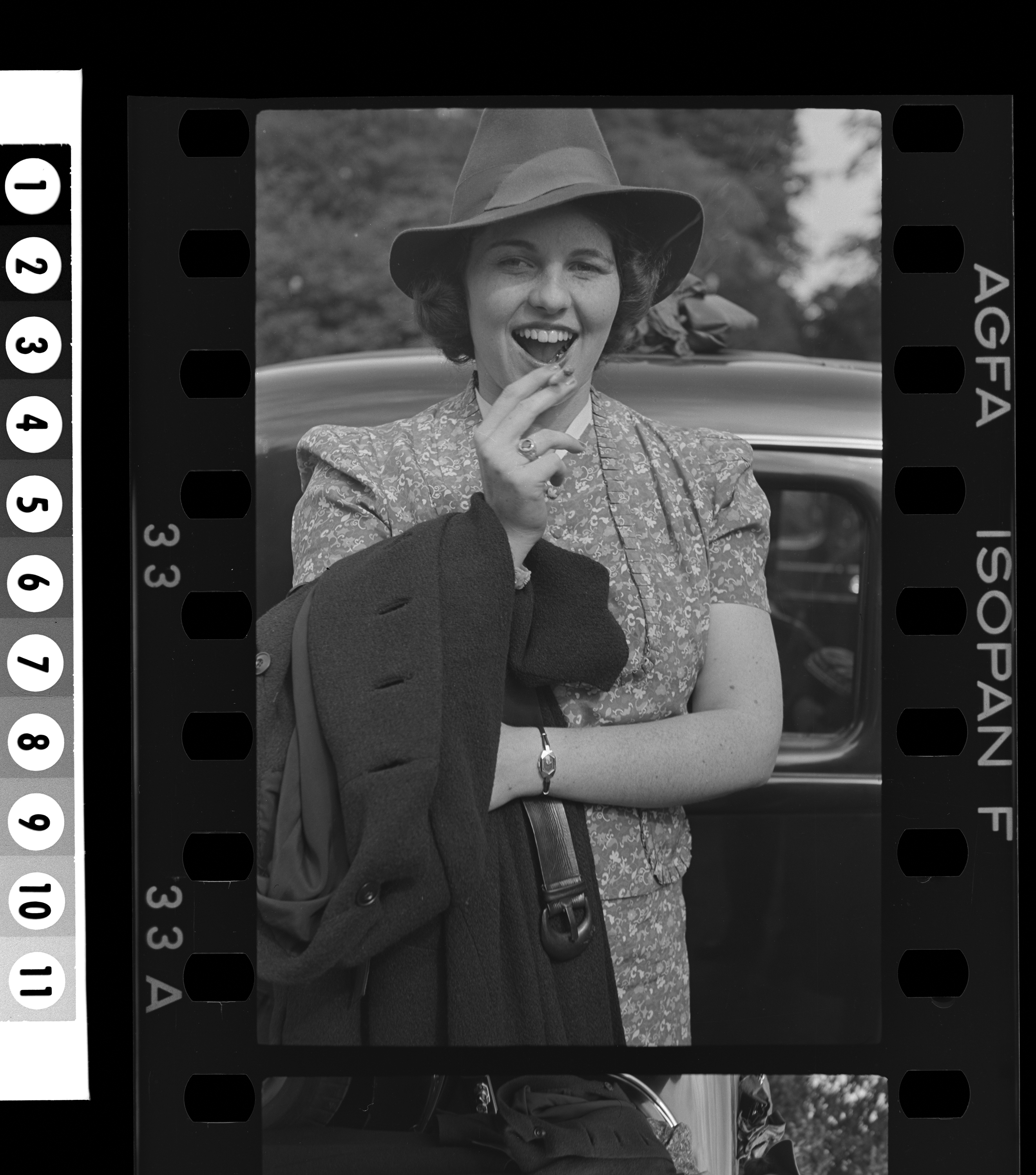 KFC1044N. Rosemary Kennedy. Kilcroney, Ireland, ca. 1938 1 negative (black-and-white; 35 mm; film/plastic: nitrate) © John F. Kennedy Library Foundation
