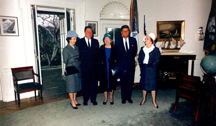 jfk in oval office. U.S. Congressional Representative From Louisiana Thomas Hale Boggs Visiting President John F. Kennedy In The Jfk Oval Office
